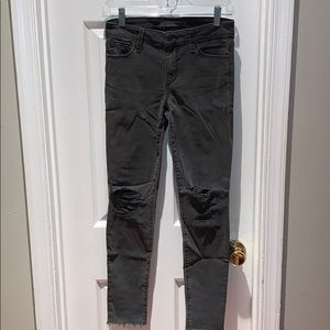 Joe's Jeans Gray Ripped Skinny Jeans - Size 27